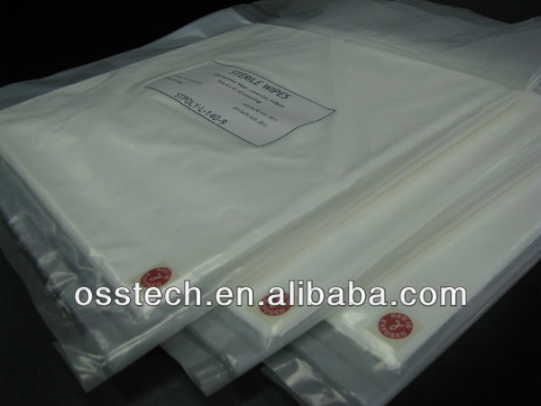 Cleanroom Sterile wiper Cleanroom hydroentangled 55% cellulose and 45% polyester Nonwoven Wiper, Sterile Wipe