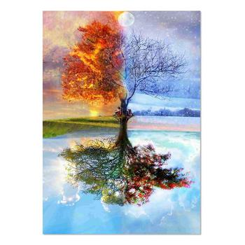 2019 Home Decoration Full Drill Diamond Embroidery Painting Art DIY by Number Kits Four Season Tree 5D Diamond Painting Kits