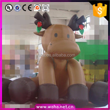 China Factory Christmas Inflatable Products Xmas Deer for yard decoration