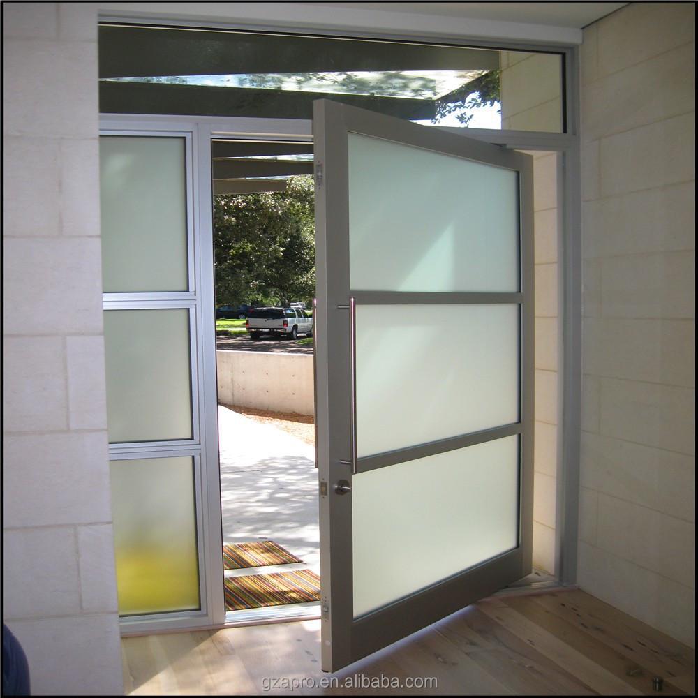 Pivote de aluminio puertas de entrada para residencial for Puertas de aluminio para entrada