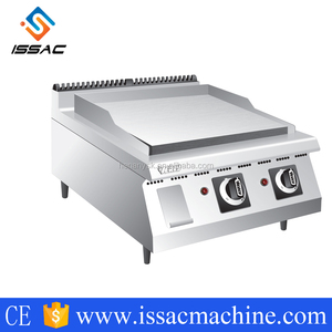 IS-TGG-8A stainless steel flat plate gas grill griddle with gas fryer for from factory sales