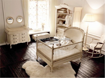 Victoria Style Carved Wooden Baby Crib, Ornate Design Children Bedroom  Furniture Set, Noble Furniture