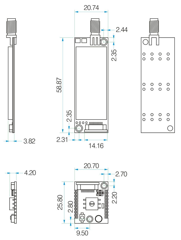 G Nicerf 4w Uhf High Power Long Range Walkie Talkie Module Full Band Circuit Diagram Of Sa858