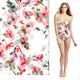Polyester swimwear digital printing swim fabric 84% polyester 16% spandex fabric