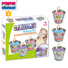2017 hot selling candle making kits with 3 metal cups children craft kits diy craft set for kids