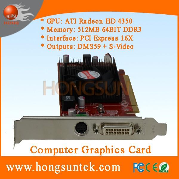 Ati Radeon Hd 4350 512mb Pci-express 16x Dms59 S-video Low Profile Graphics  Card - Buy Dms59,Hd 4350,Ati Product on Alibaba com