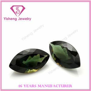 Marquise Shape Loose Faceted Olive Peridot Hydro Quartz Stone