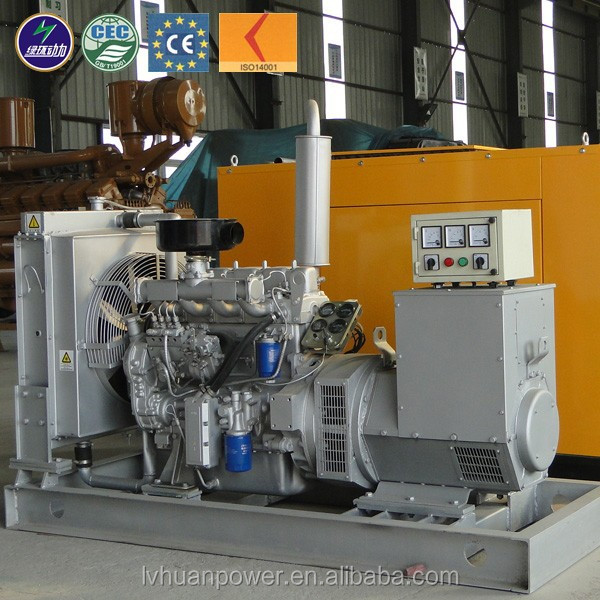 Methane gas generator water cooled CHP cogenerator American components fuel consumption low price low 40kw natural gas generator