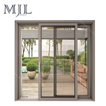 Large glass block aluminum slide window fame for garden and house