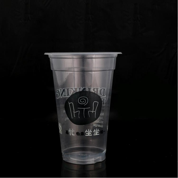Transparente durchsichtige kalte Getränke-Plastikschale