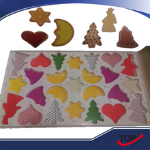 hot-selling Multi-shapes plastic cookie cutter/plastic cookie stamps/plastic mini cookie cutters