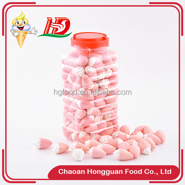 New Products ice cream marshmallow canned wholesale press candy