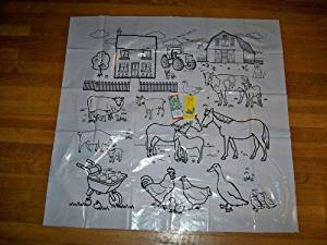 """Gigantic Coloring Sheets Set of 3 Reusable Table Top Coloring Sheets 34"""" X 34"""