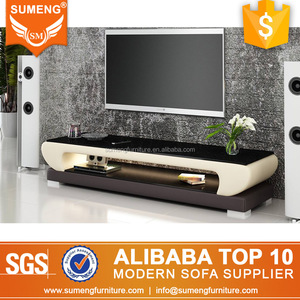 japanese style fancy design furniture tv stand with LED light