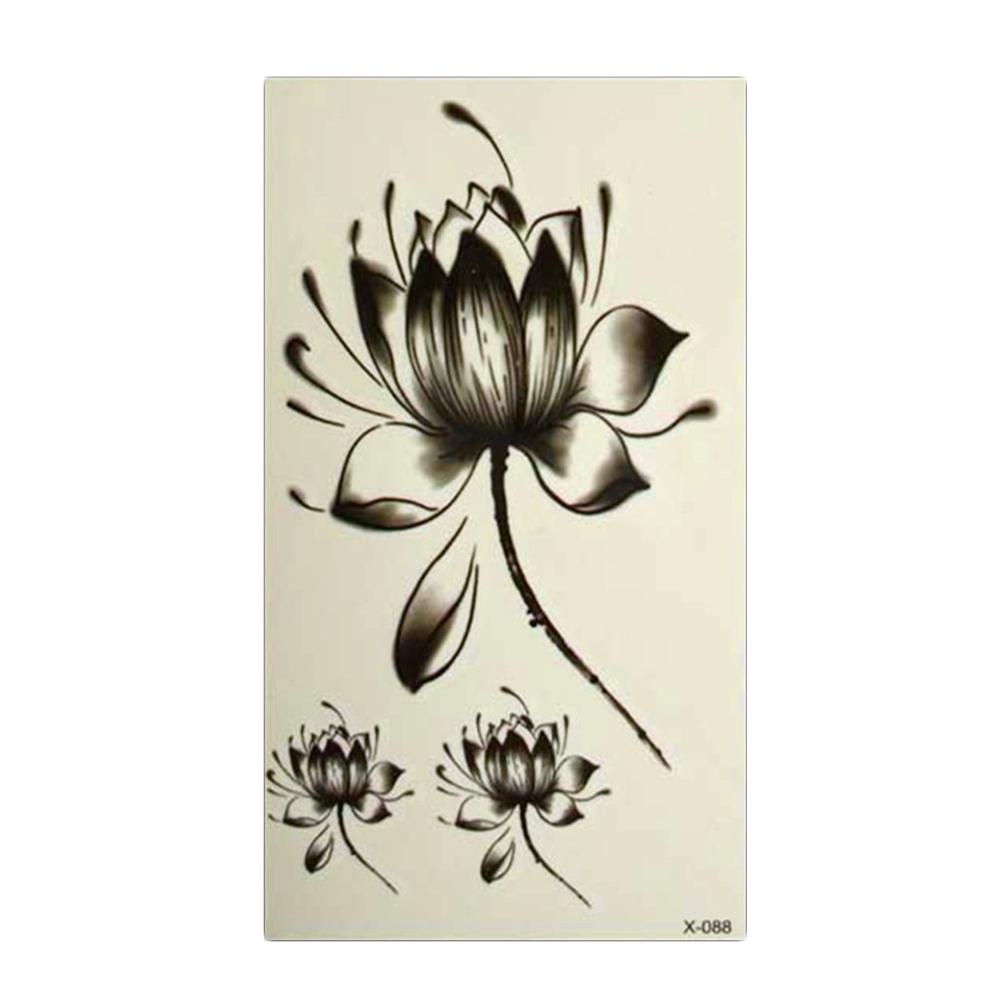 excellente qualit lotus fleur de tatouage promotion achetez des produits promotionels lotus. Black Bedroom Furniture Sets. Home Design Ideas