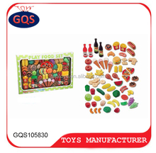 Baby Pretend Play Kitchen Educational Toy Set 90 pcs Kids play food pretend plastic toys fruits and vegetables