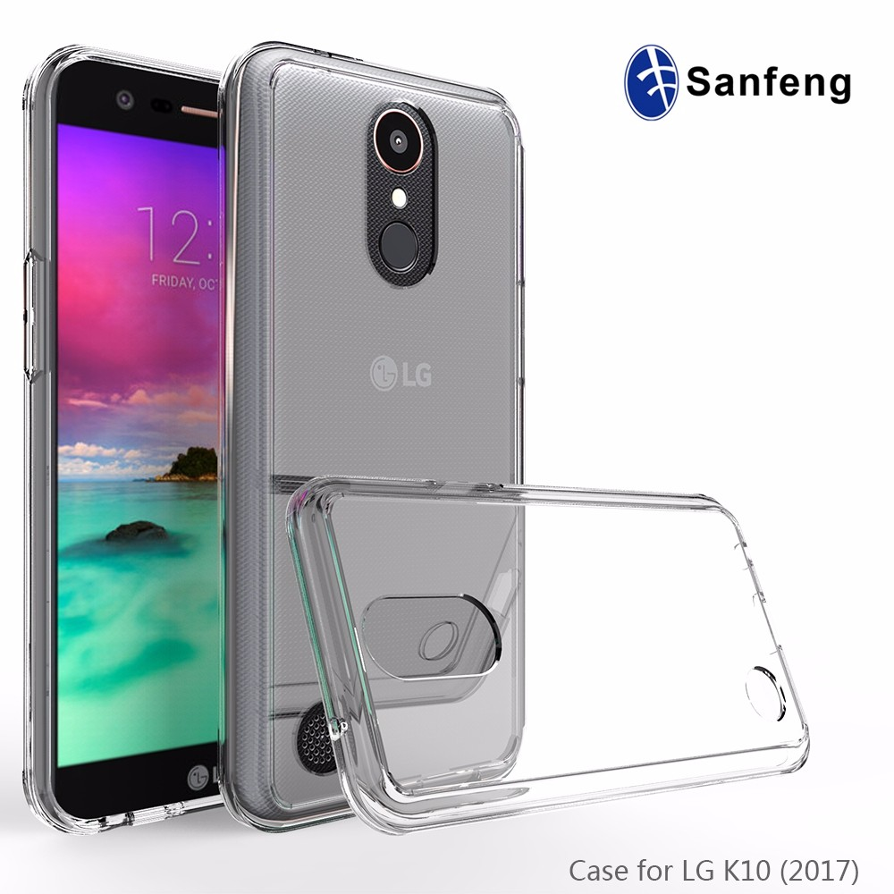 Free Sample Available Reinforced Shock Absorbing Clear Back Panel TPU Hybrid Bumper Case for LG K20 Plus