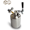 2L Beer Keg Dispenser System,Stainless,With Tap and Regulator Cerveja Homebrew Kitchen Accessories water fittings Brewery equipm