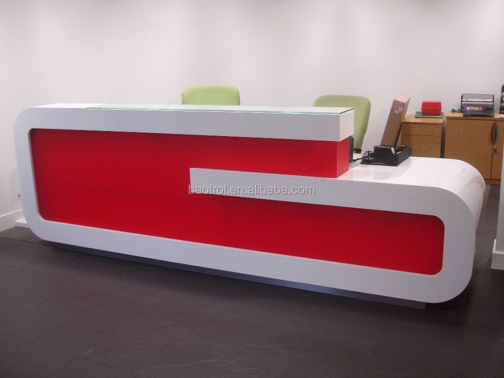 Customized Modern Office Reception Desk Counter Design