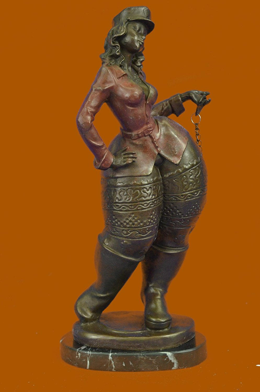 Art Confident Very Pretty Pure Bronze Female Classical Portrait Bust Sculpture Statue Figurine