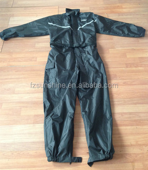 2016 Custom One Piece Rain Suits with reflective strip