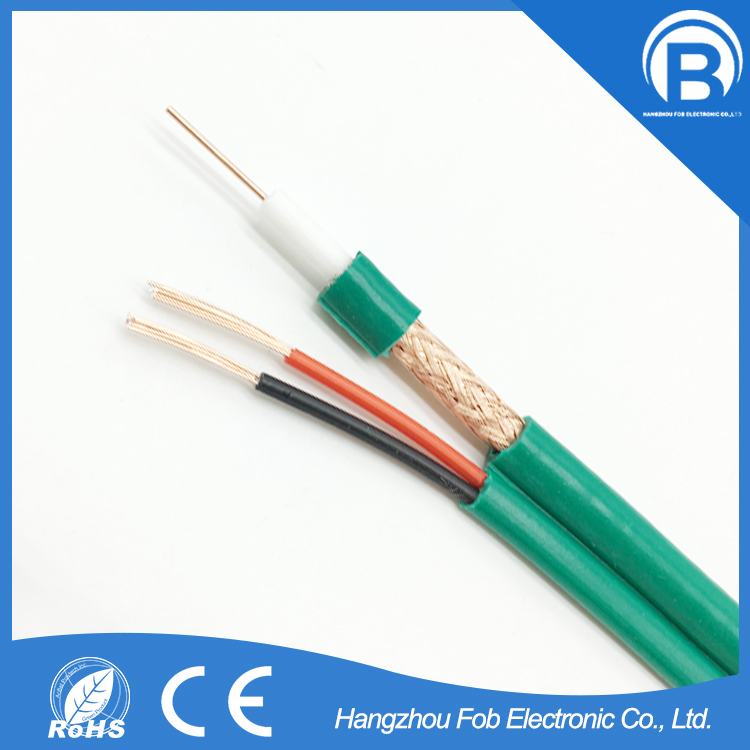 Hot selling FOBELEC 16 x 8 x 0.12mm CCA cctv premade cable