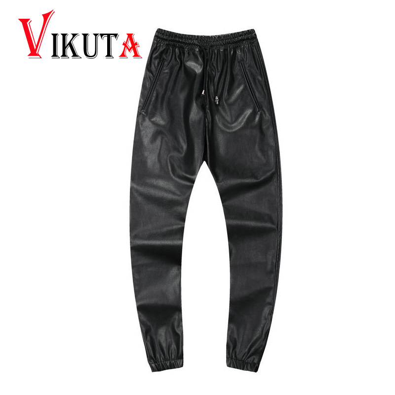These stylish bottoms are particularly popular with men. Men's leather sweatpants often feature a drop-crotch, slouch design similar to a harem pant with an adjustable waistband, making them as comfortable to wear as they are cool. Colors vary from standard black that can serve as neutrals in any look to bold reds that evoke a vintage era of.