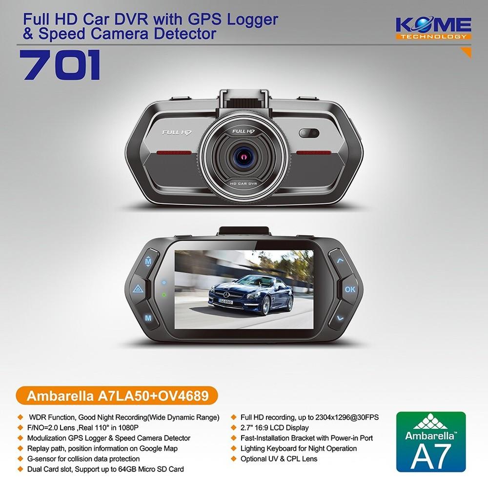 Hot Kome 701 Mini Super Hdblack Hidden Taxi Car Accident Camera ...
