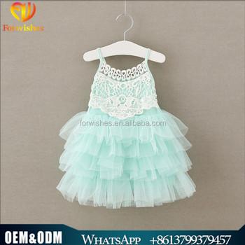 Isolationsschlauchbügelschichten Tüll Baby Baumwolle Kleid 2y Kinder