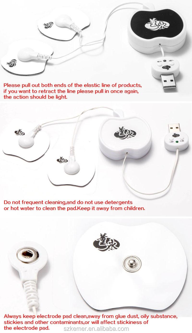 2016 Terbaru Gel Pad Perangkat Pijat Pulsa Elektronik Akupunktur Akupuntur Elektro