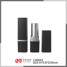 empty black package cosmetic lipstick paper tube