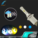 DIY color changing led headlight 3 colors in 1 4300K 6000K 8000K V4 led head lamp
