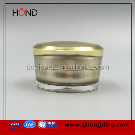 gold color professional promotion 15g acrylic plastic container for sleeping <strong>spray</strong>,cosmetic concealer jar,cream jar