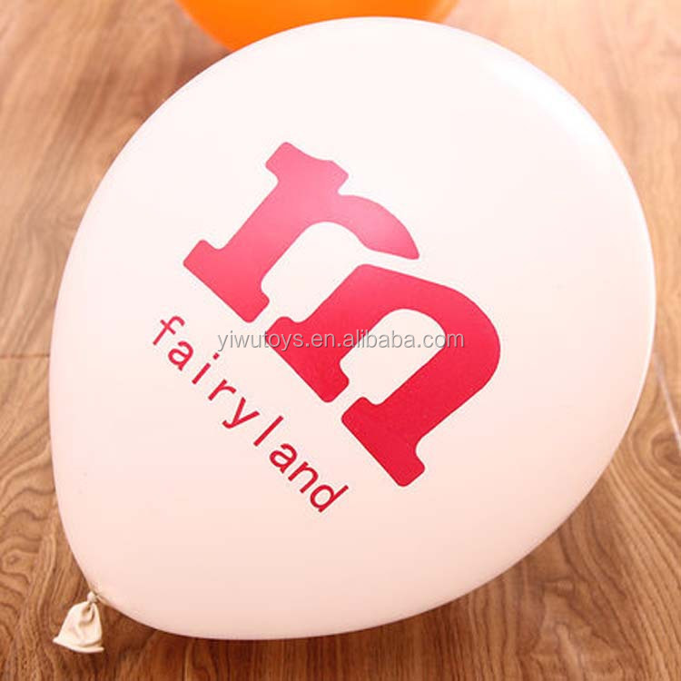 Logo printed advertising baloon