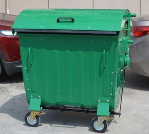 1100l Steel Waste Container Dome Lid Pg-1100l-5