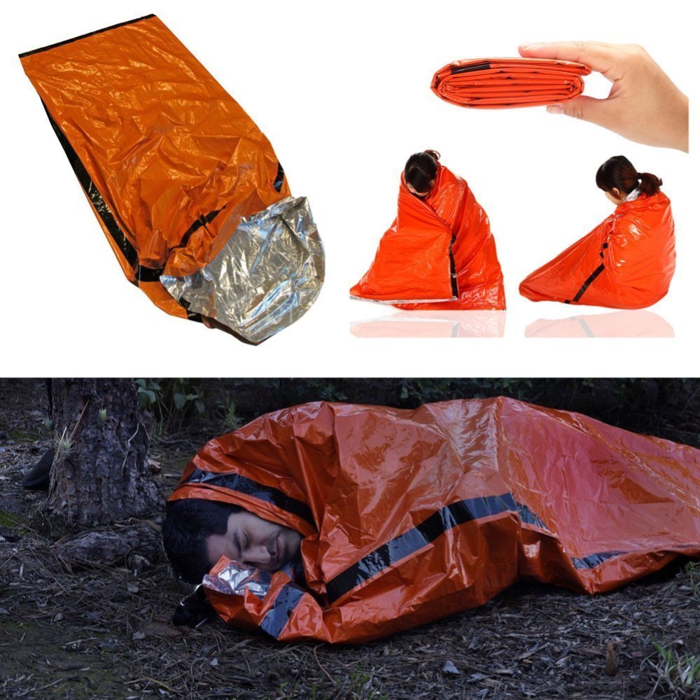 Get Quotations Better Outdoor Emergency Sleeping Bag Thermal Bivvy Use As Bivy Survival