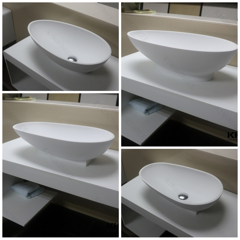 Bowl Shap Round Table Mount Above Counter Sink Art Basin
