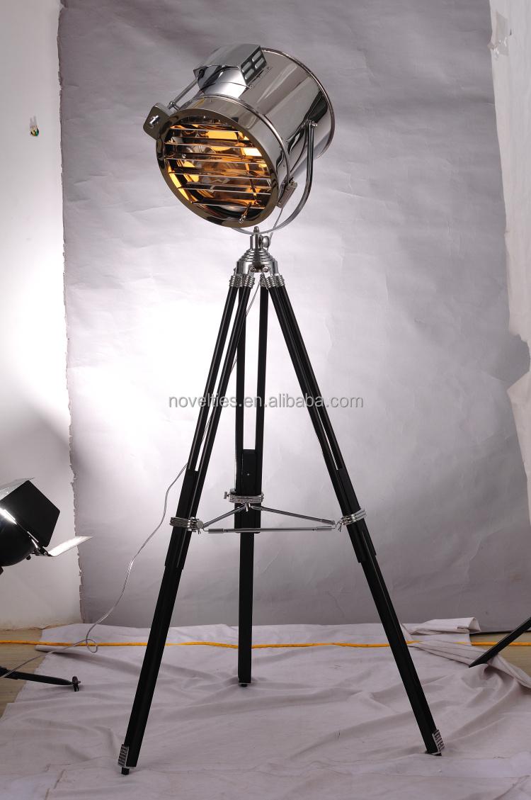 Retro Industrial Loft Tripod Floor Standing Lamp Nautical