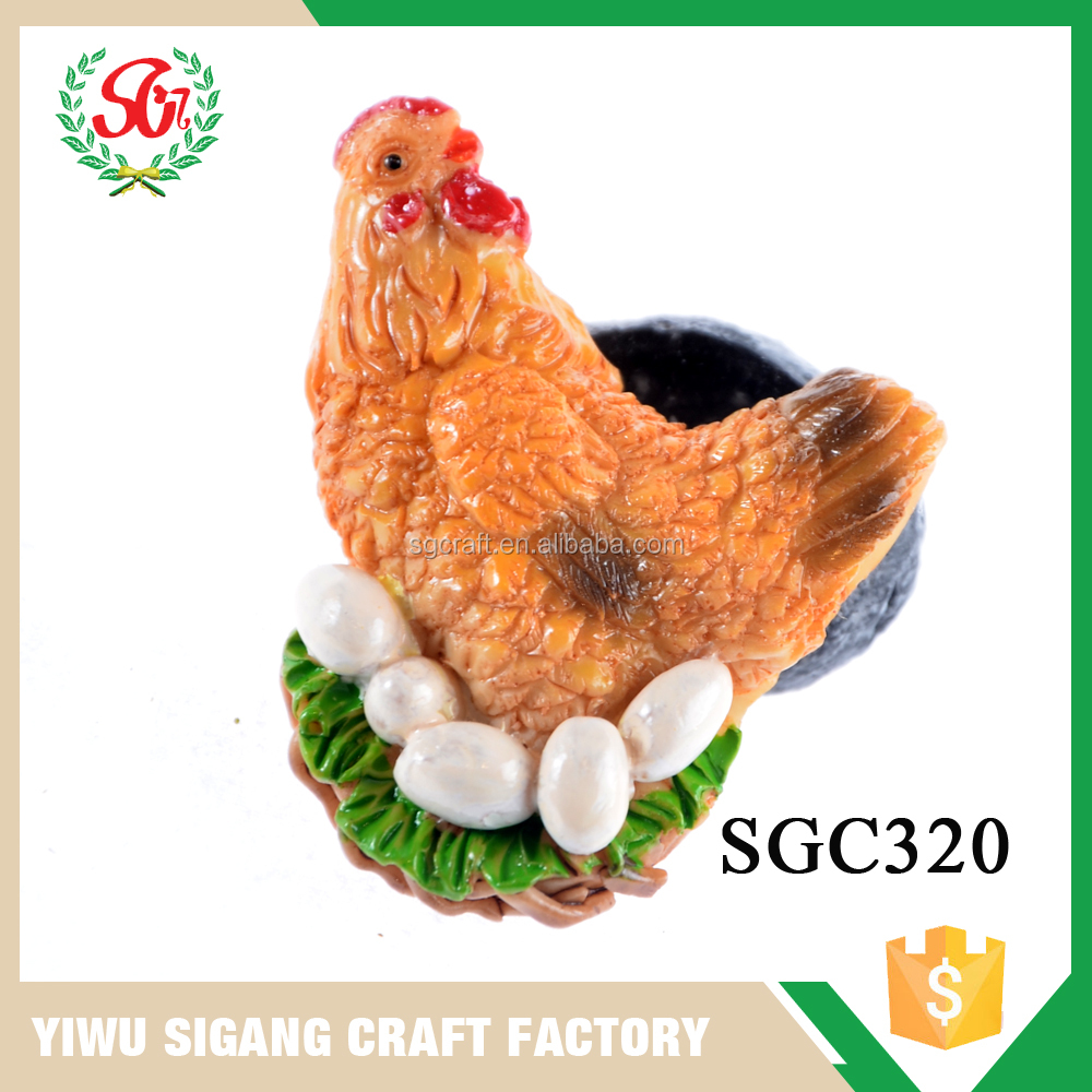China Factory Direct Sale 3d Chicken Animal Fridge Magnet With Eggs