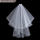 big factory hot sale beaded wedding accessories veil