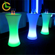 Foshan wholesale high quality 16 colors RGB illuminated led light outdoor nightclub party glowing bar table