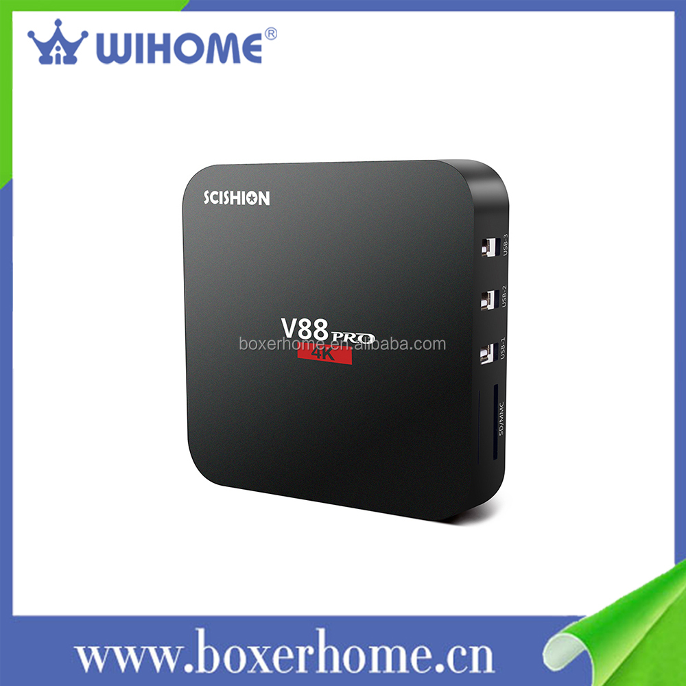 Promotional S905X Quad Core Android 6.0 1GB RAM 8GB ROM digital cable free internet <strong>tv</strong> <strong>set</strong> top <strong>box</strong>