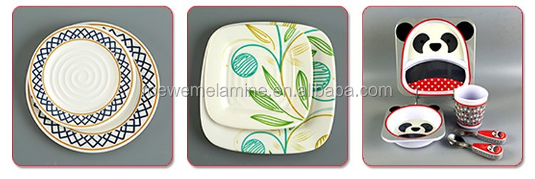 Family Using Morden Design Top Grade Melamine Foodware Set