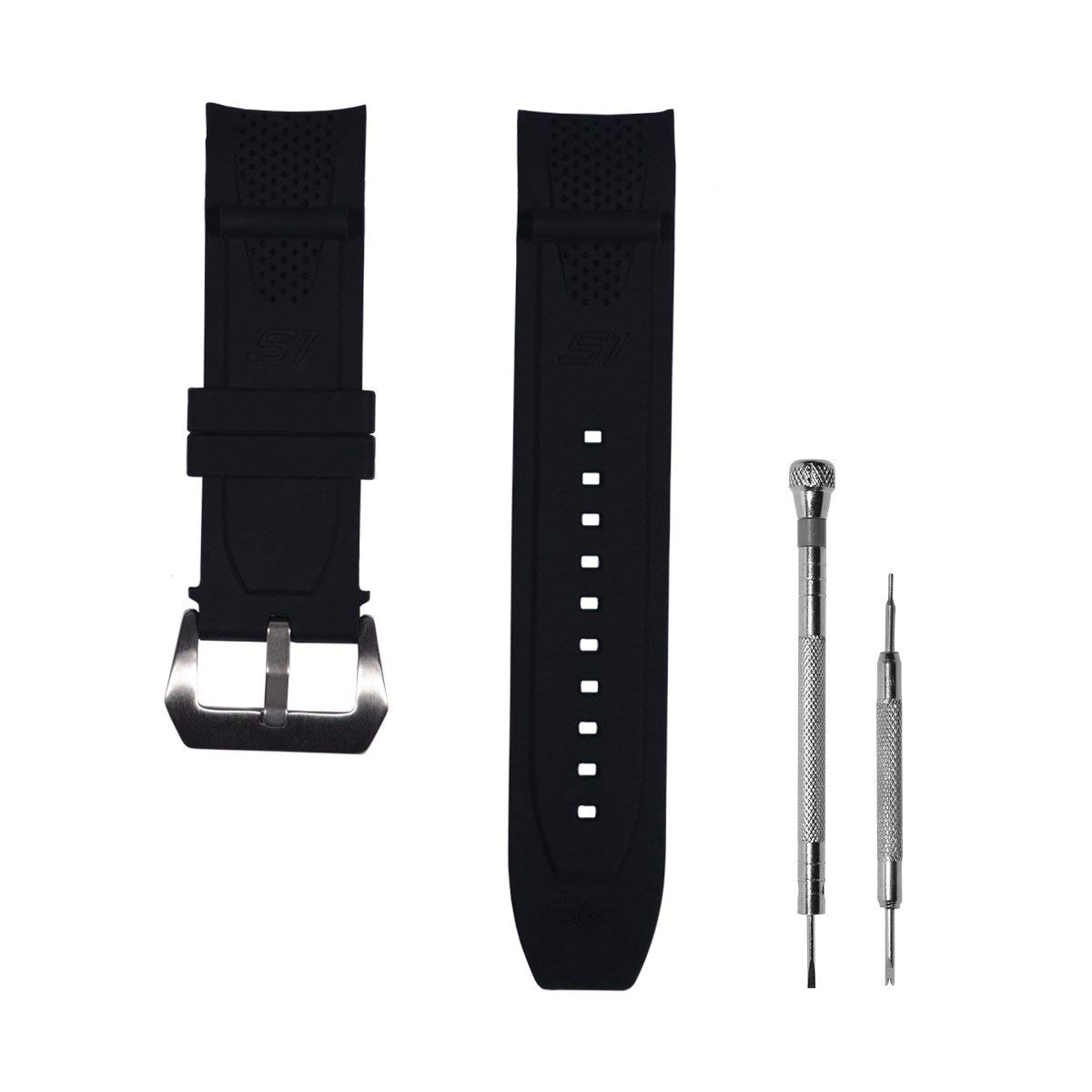 3d964d182 Get Quotations · CACA for Invicta S1 Rally Replacement Rubber Silicone Watch  Band Watch Strap with Stainless Steel Buckle