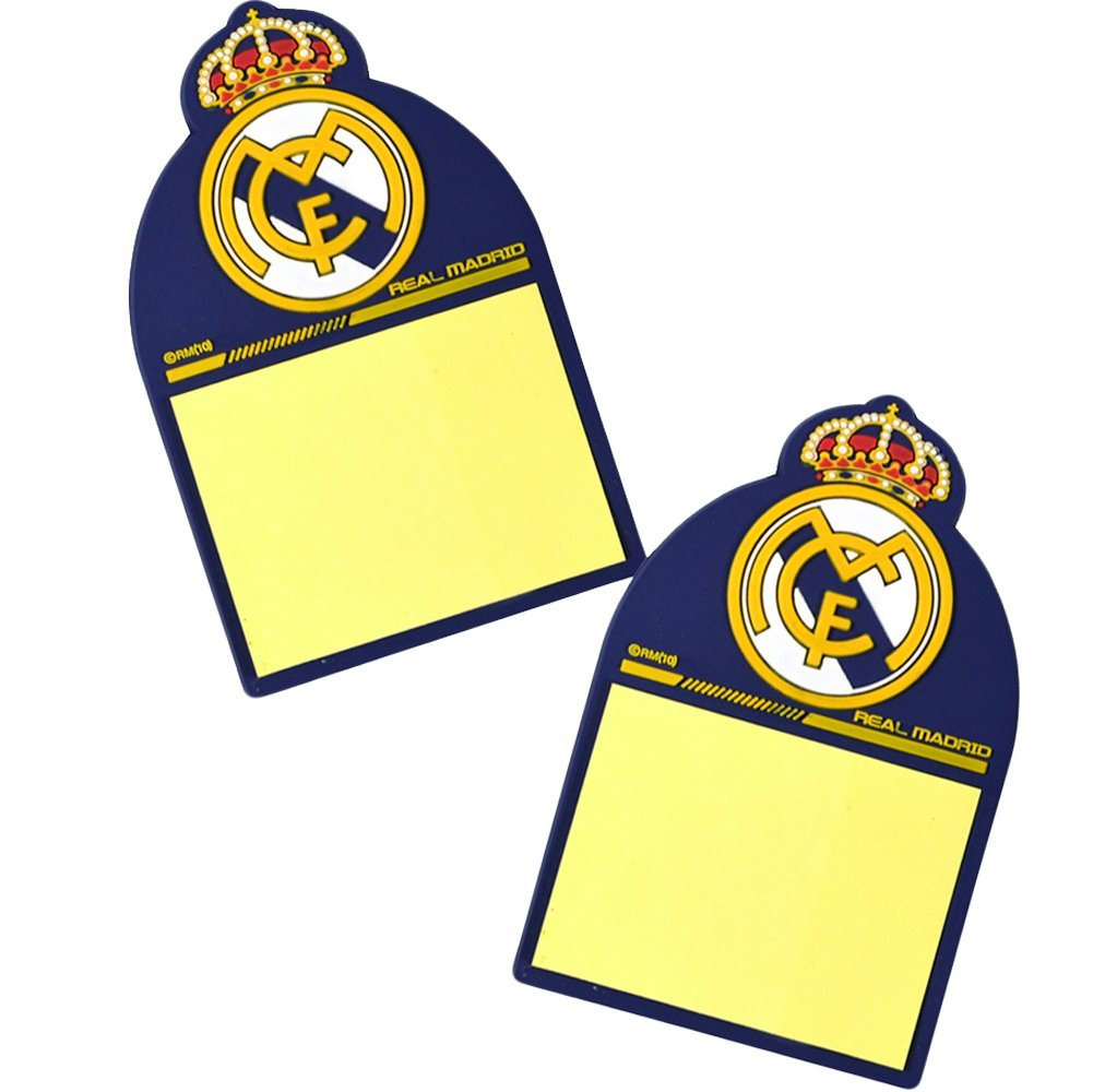 La Liga Real Madrid Small Sitcky Notes Magnet Official Product (Set of 2)