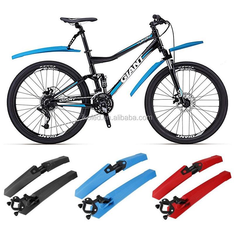 Waterproof Mountain Bike Plastic Mudguard Bicycle Fender Colored