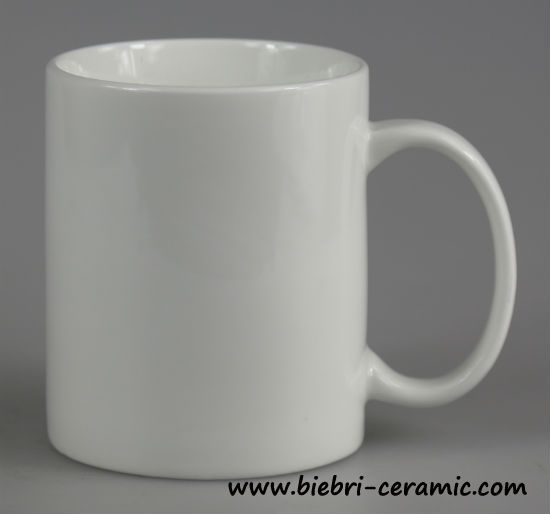 12oz Super White Logo Decal Artwork Printable Fine Porcelain Coffee Mugs  With Custom Design Handle