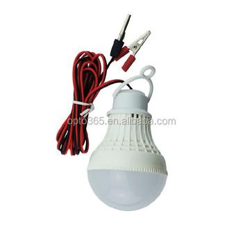 Battery Clamp Led Bulbs 12v Dc 3w Solar Led Light With 12v Circuit ...