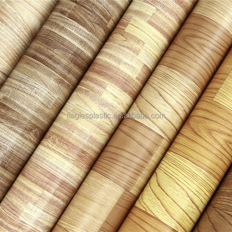 Linoleum PVC Floor Rolls Wood Colors