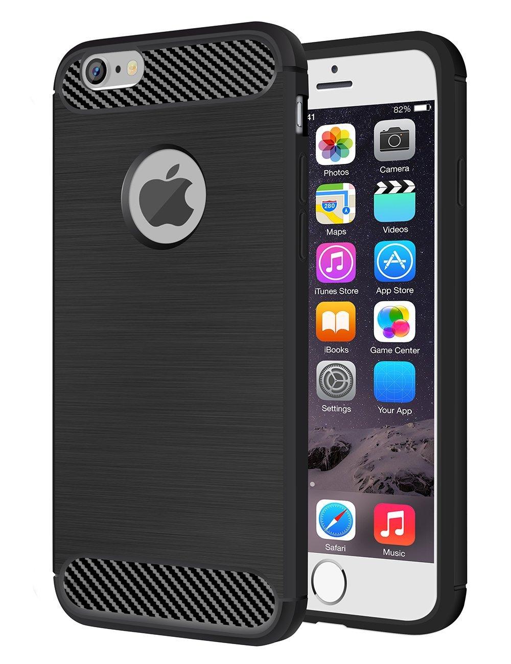 iPhone 6/6S Case, Zoudashuai Soft TPU Ultra Slim Thin Clear Durable Anti-Slip and Anti-Scratch Case Rugged Shock-absorption Bumper Cover for iPhone 6/6S 4.7 Inch(Black)